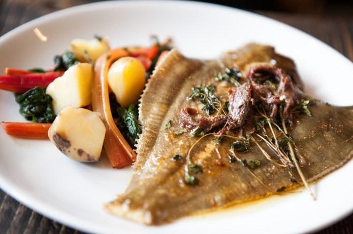 Weymouth Plaice, anchovy, marjoram, crushed potatoes & purslane