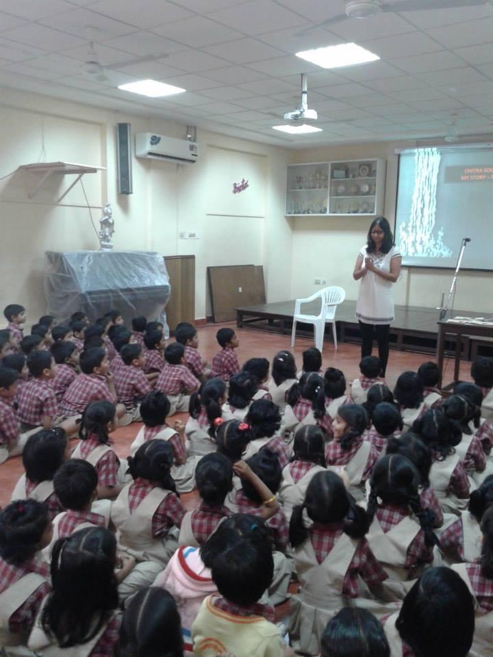Falgu visits Sankara Vidyalaya