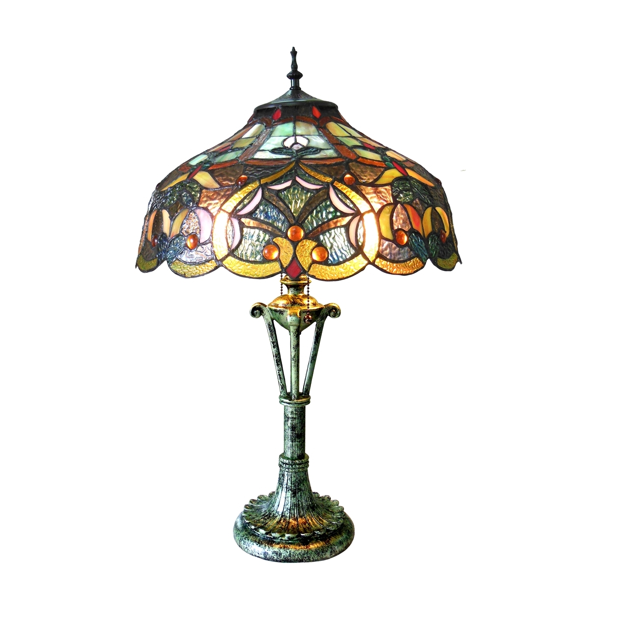 contemporary glass table lamp