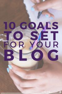 10 Goals to Set for Your Blog