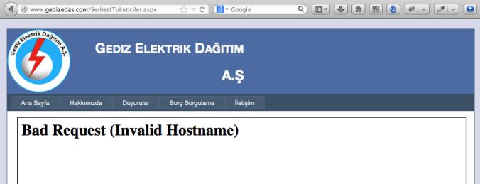 Gediz Elektrik Web Sitesi