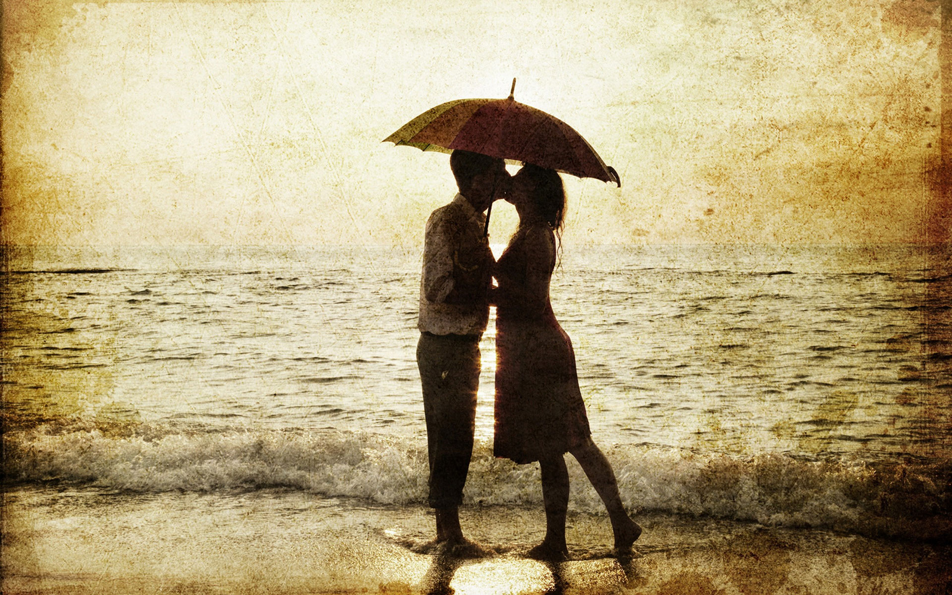 Romantic love couple in rain hd wallpapers