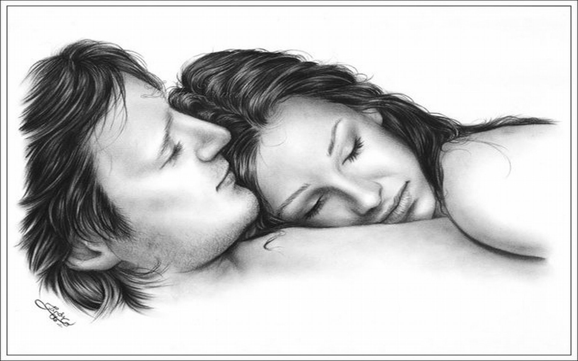 Cute Love Couple Kissing Wallpaper Cute Love Drawings Pencil Art Hd Romantic Sketch Wallpaper