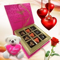 Admirer's Surprise with Rose and Love Teddy