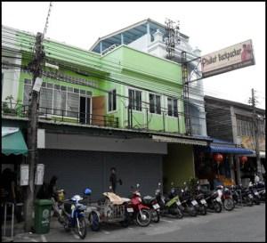 front of Phuket Backpacker Hostel