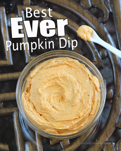 Pumpkin Cheesecake Dip- this popular dip is always the first thing to go at parties.