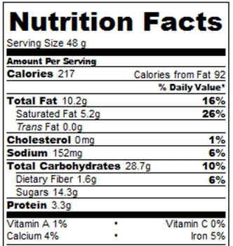 Twix bars nutrition facts