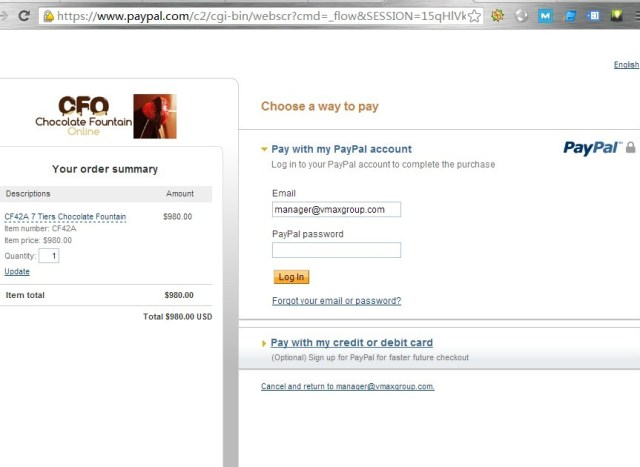 Paypal website to pay safety