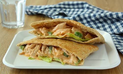 Buffalo Chicken Salad Sandwiches | www.chocolatemoosey.com