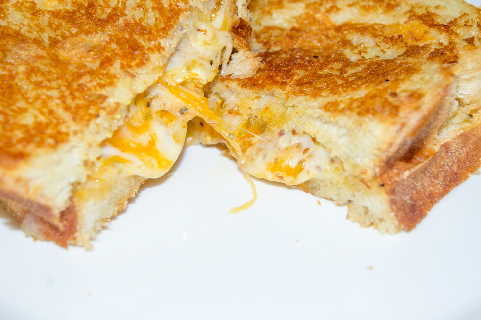 Grilled Cheese Sandwich Opening