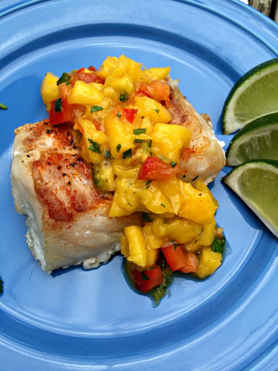 Baked Cod with Mango Salsa