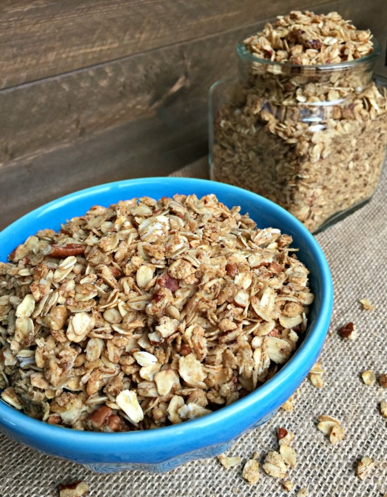 This maple pecan granola is sweet enough as a dessert topping yet ...
