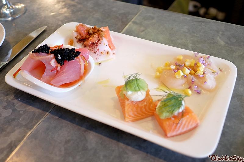 Sashimi at Bar Crudo, San Franciso
