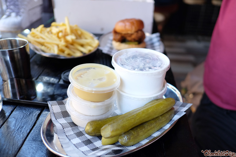 Sauces, Fries and Pickles at Butter, Surry Hills