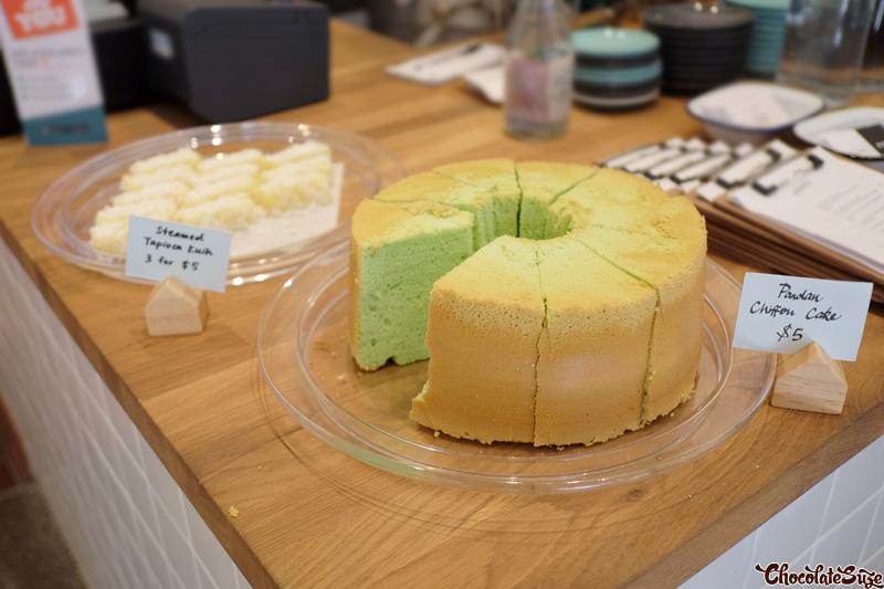 Kuih and chiffon cakes at Cafe Rumah, Surry Hills