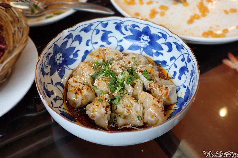 Sichuan Style Wonton at Red Chilli Sichuan Restaurant, Chinatown