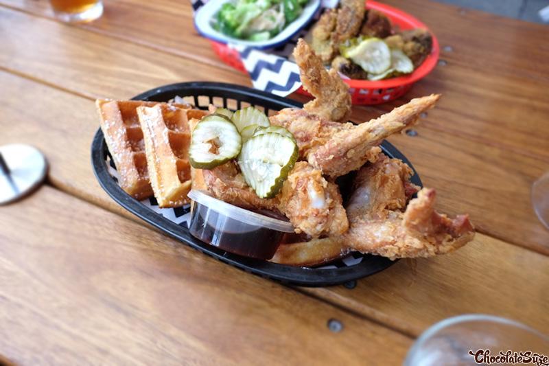 Fried Chicken and Waffles at Belles Hot Chicken, Barangaroo