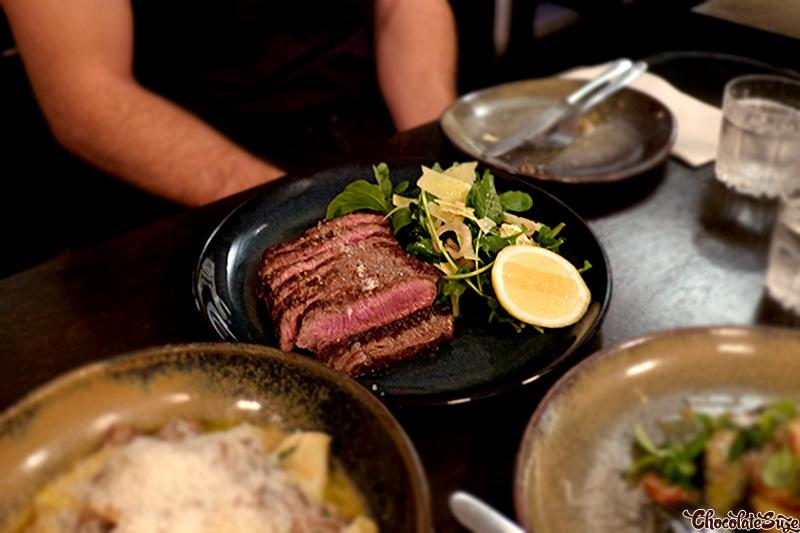 Flat iron steak tagliata at Big Poppa's, Darlinghurst