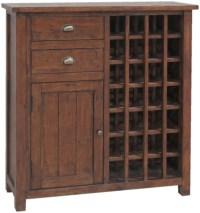 Buy Driftwood Reclaimed Pine 1 Door 2 Drawer Wine Cabinet ...