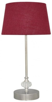 Silver and Cut Glass CandleStick Table Lamp with A 9inch ...