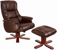 Buy GFA Shanghai Nut Brown Bonded Leather Swivel Recliner