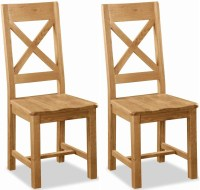 Buy Global Home Salisbury Oak Cross Back Dining Chair with ...