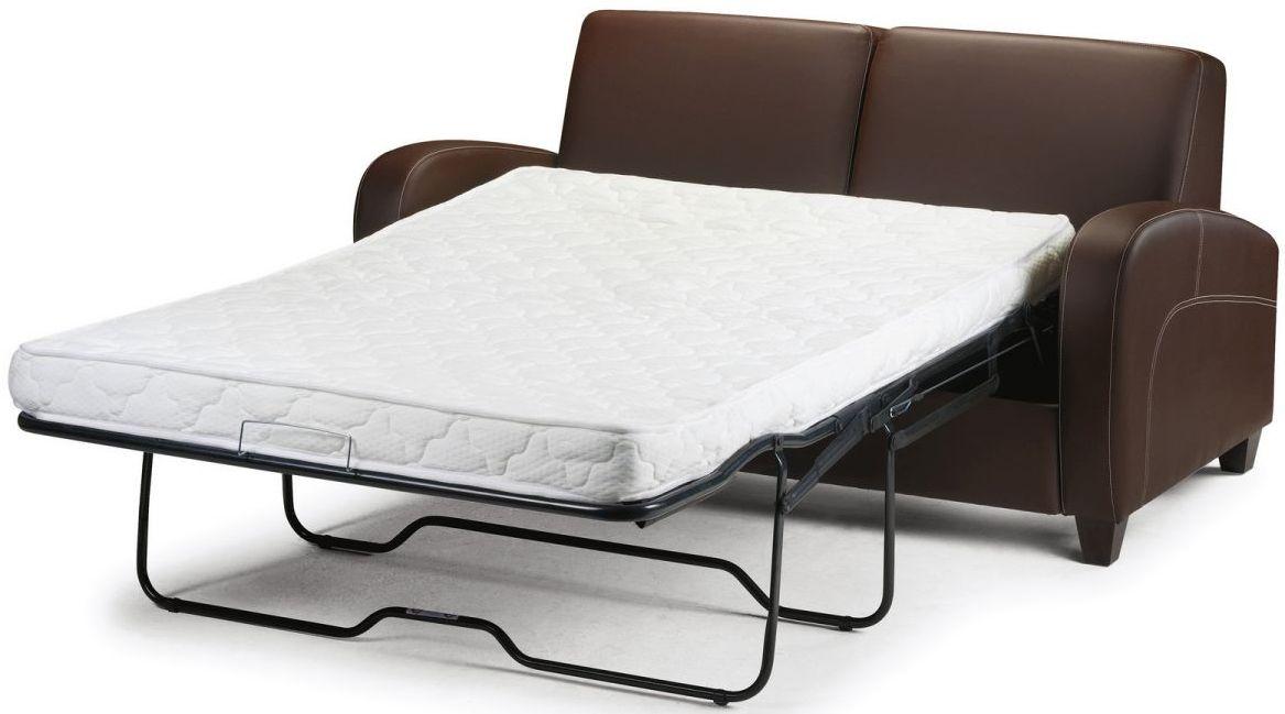 Buy Julian Bowen Vivo Brown Faux Leather Fold Out Sofa Bed