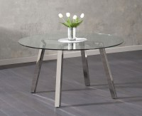 Buy Mark Harris Remy Glass Dining Table - Round Online ...