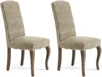 Buy Serene Kensington Bark Fabric Dining Chair with Walnut ...