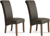Buy Serene Kingston Brown Faux Leather Dining Chair with ...