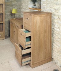 Buy Baumhaus Mobel Oak 3 Drawer Filing Cabinet Online  CFS UK