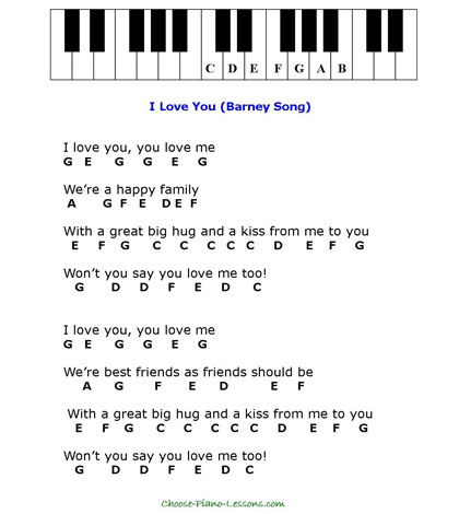 Simple Kids Songs for Beginner Piano Players Music Pinterest - example of sorry letter