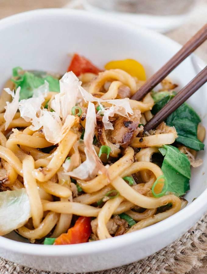 Stir fry Udon