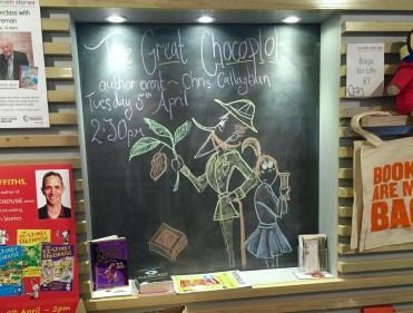 The Great Chocoplot Chalk Display
