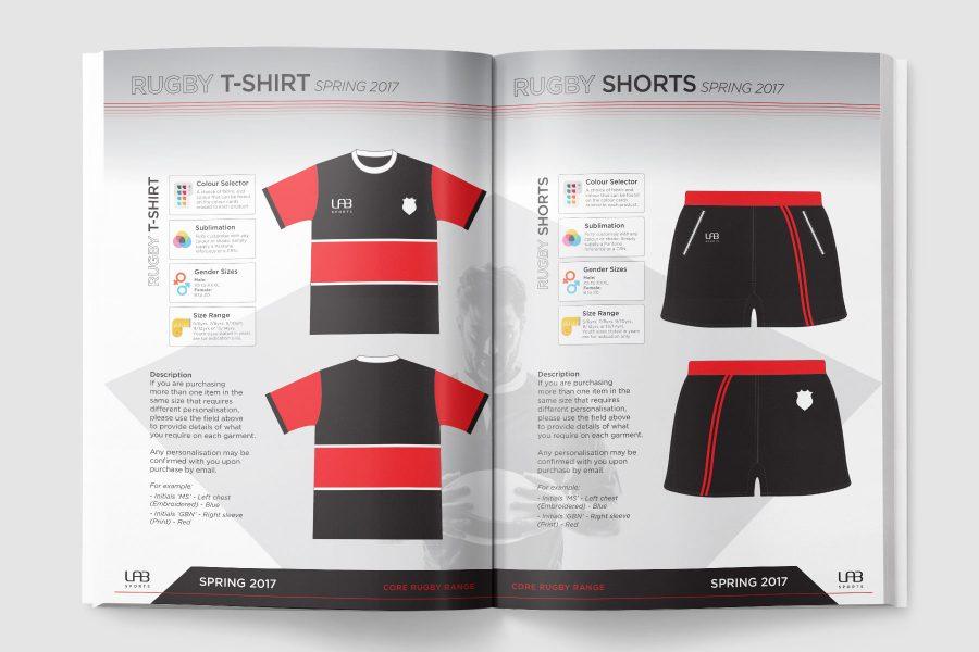 LAB Sports Rugby Range Brochure Design Portfolio Chris Judson - sports brochure