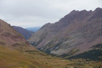 Looking down the valley from the top of West Maroon pass