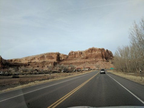 Driving through Bluff, Utah. Roughly the halfway point, and a long way from anywhere else