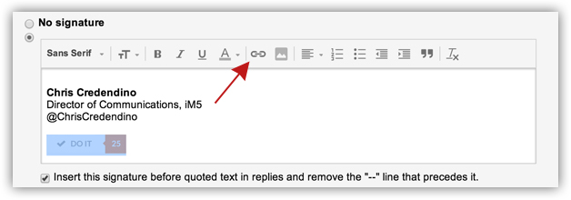 Adding A Hyperlinked Image To Your Gmail Signature Chris Credendino