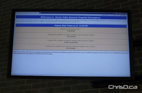 New Screen Gives Hospital Patients Wait Times Chrisd Ca