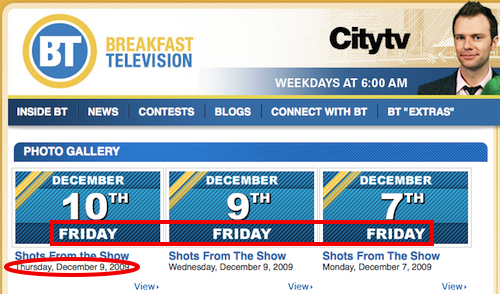 Citytv Friday Dates