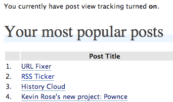 Track the popularity of your posts