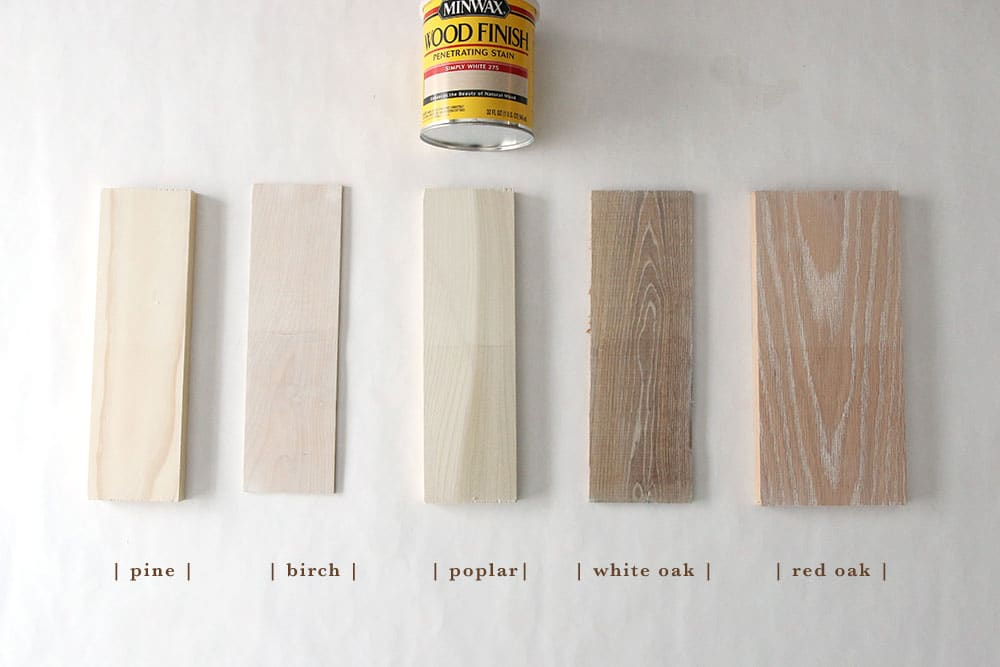 How 6 Different Stains Look On 5 Popular Types of Wood - Chris Loves
