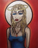 Madonna Blond painting by Chris Shaw, 2000