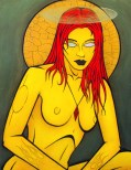 Madonna Yellow painting by Chris Shaw, 2001