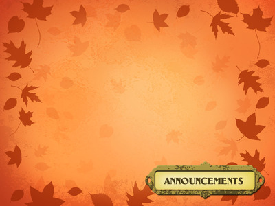 Image Announcements PowerPoint Themes Blown Leaves Christart