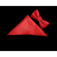 Bowtie and Pocket Square in Red