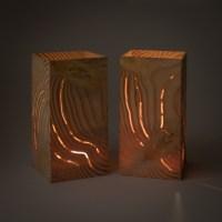 Paar Douglasie; 7x14cm Holz