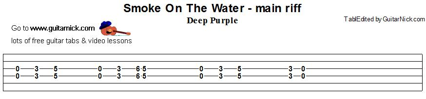 Easy Chords Smoke On The Water - ARCHIDEV