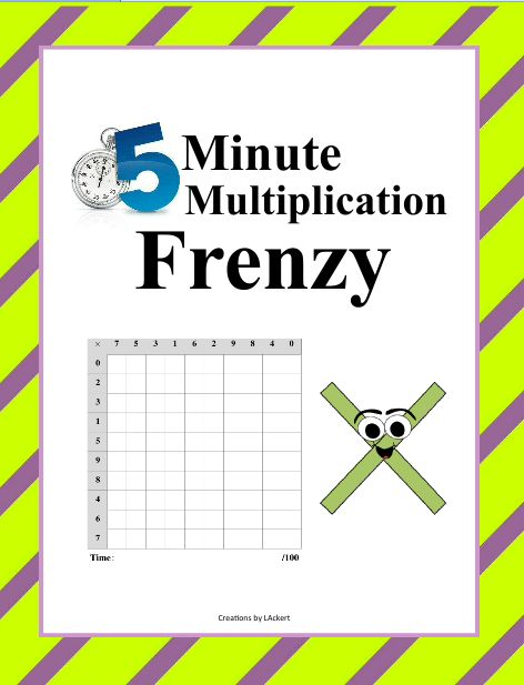 Subtraction Frenzy Worksheets kicksneakers - multiplication frenzy worksheet