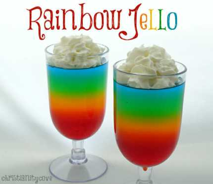 rainbow jello bible snack